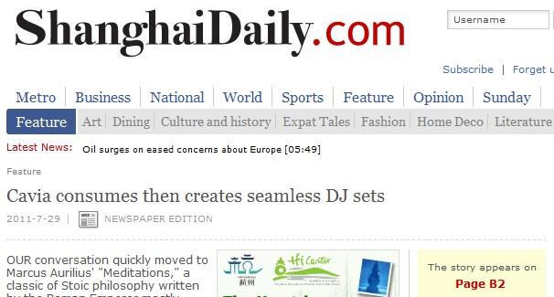 Shanghai Daily Report & DJ B.O. mixtape